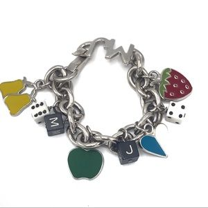 Marc Jacobs Lucky Charm Bracelet Fruit Dice Heart